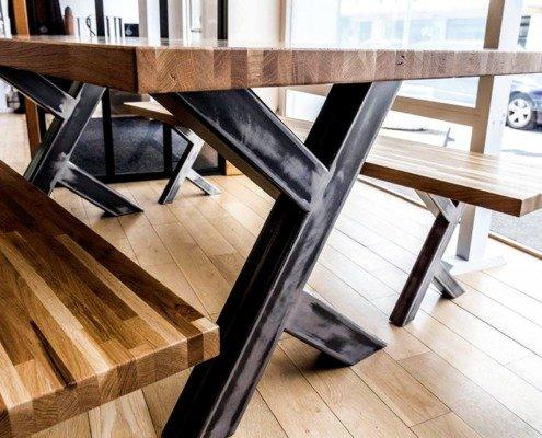 Table bois Nantes métallerie