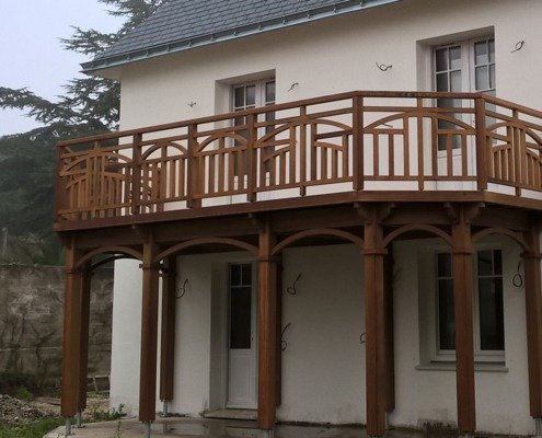 Terrasse surélevée en bois La Baule
