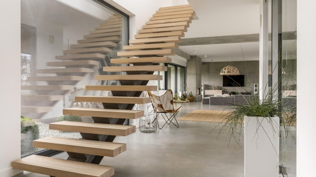 Escalier droit Nantes La Baule