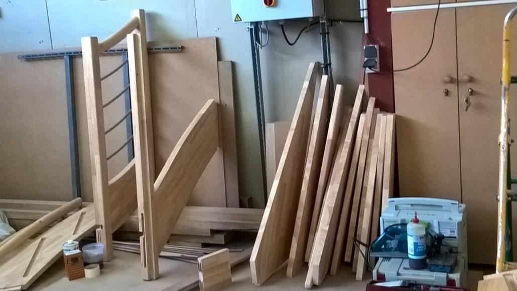 Chantier escalier bois la baule