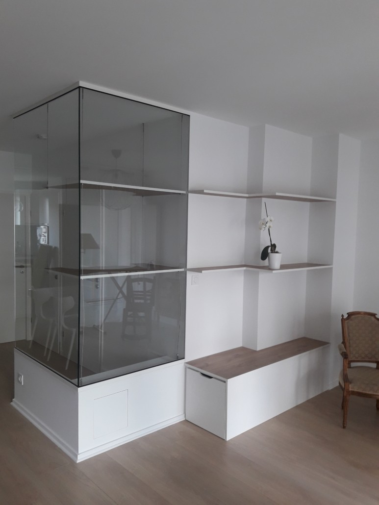 création étagère vitrée