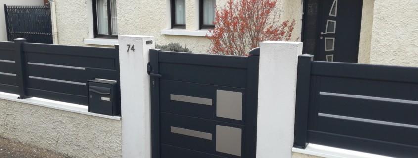 portillon et clôture en alu
